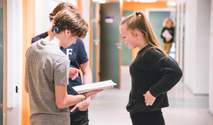 Elever på Akademiet Fredrikstad. Foto.
