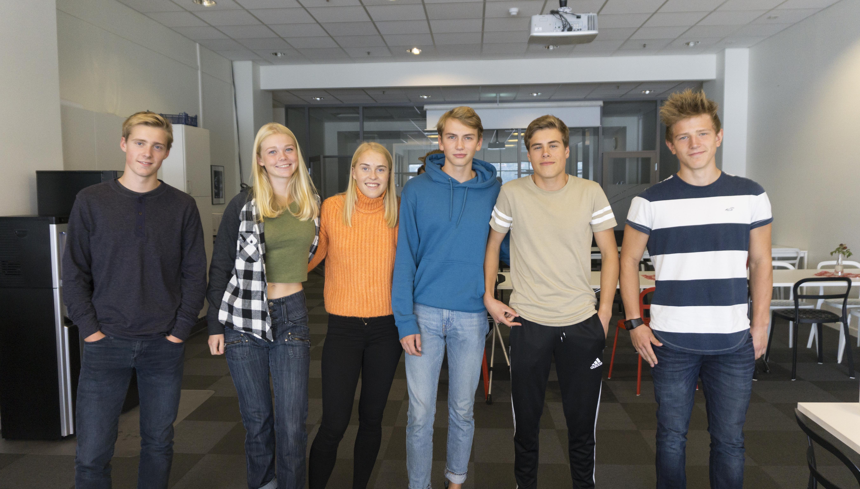 Bilde av skiløperene på Akademiet Kristiansand